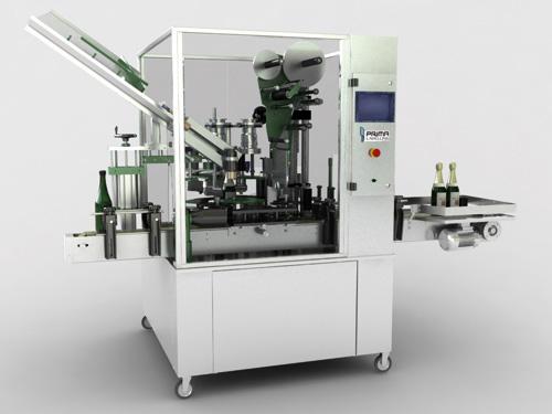 Sparkling wine labelling machine - PLM1500