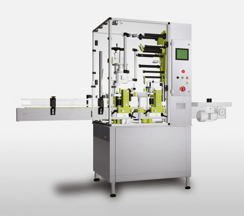 Automatic machine capsule and label application for sparkling wines - PLM700A