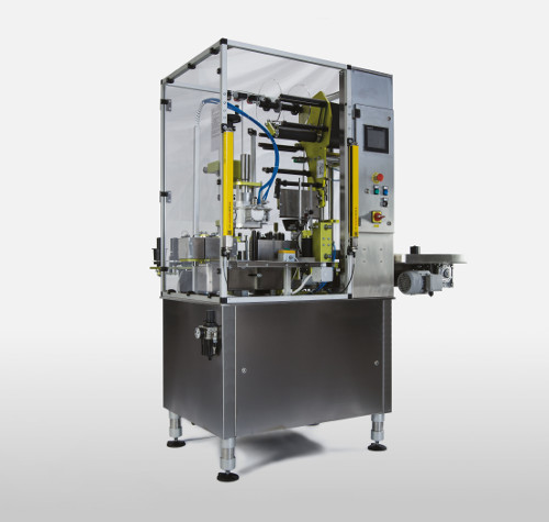 Semi-automatic machine capsule and label application for sparkling wines  - PLM700S